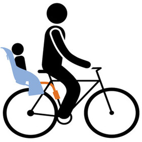 Thule RideAlong Barnesæde til cykel grå